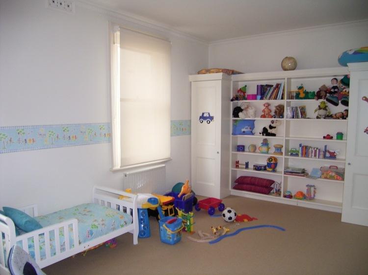 Cuarto infantil dise o moderno habitaciones compartidas - Habitacion bebe moderna ...