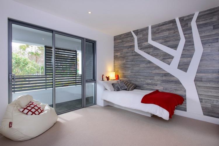 diseño habitacion estilo minimalista juvenil