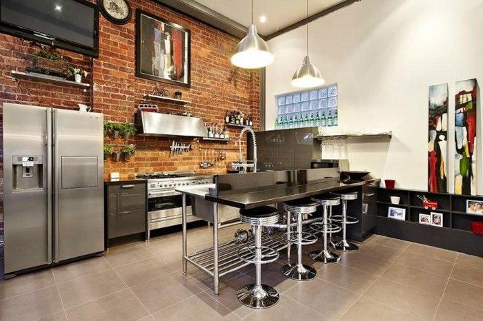 diseño industrial cocinas paredes remontadas decorados