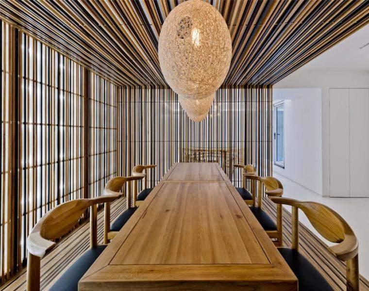 diseño interior la villa cañas bambú