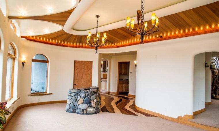 diseño interior maderas distintas