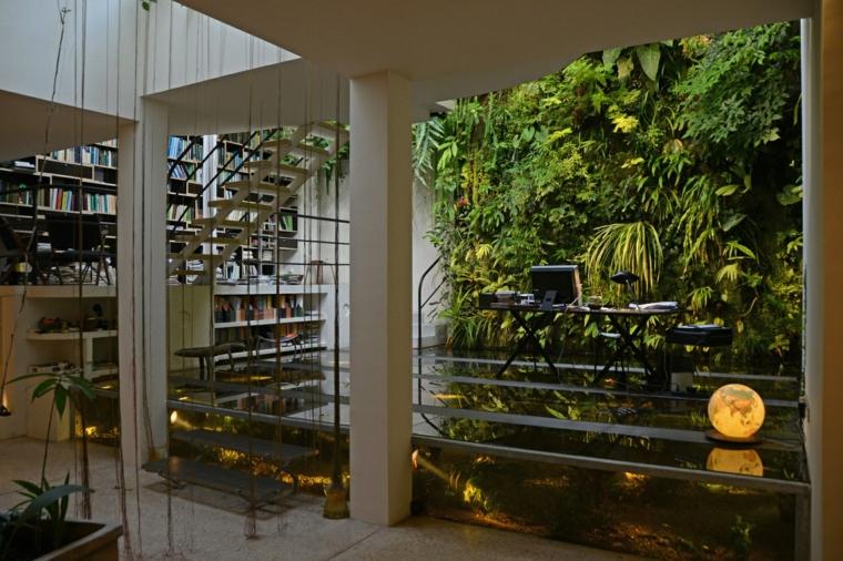 diseño interior paredes jardines deco
