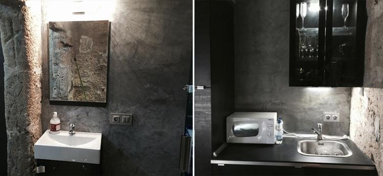 diseño baños microcemento gris
