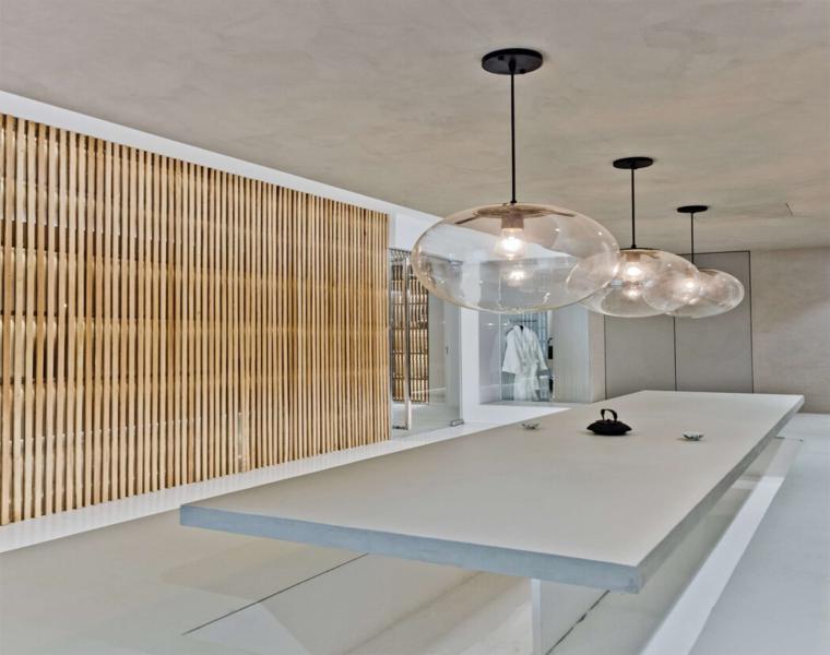 diseño interiores modernos elementos madera