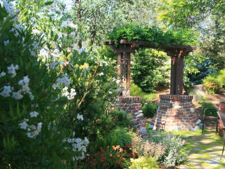 diseño jardines arco clásico