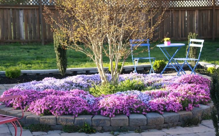 bonito diseño jardin flores primavera