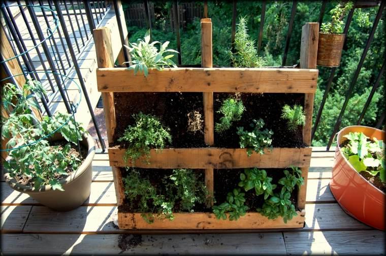 diseño jardinera madera palet