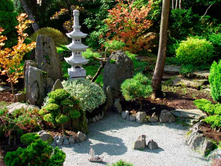 diseño jardines zen bonitos modernos