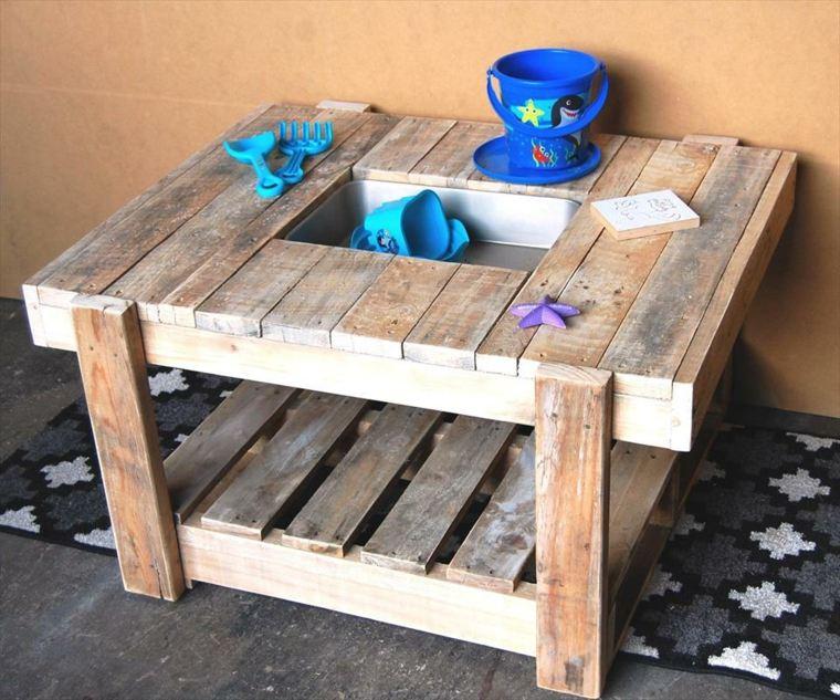 diseño mesa palet juegos madera