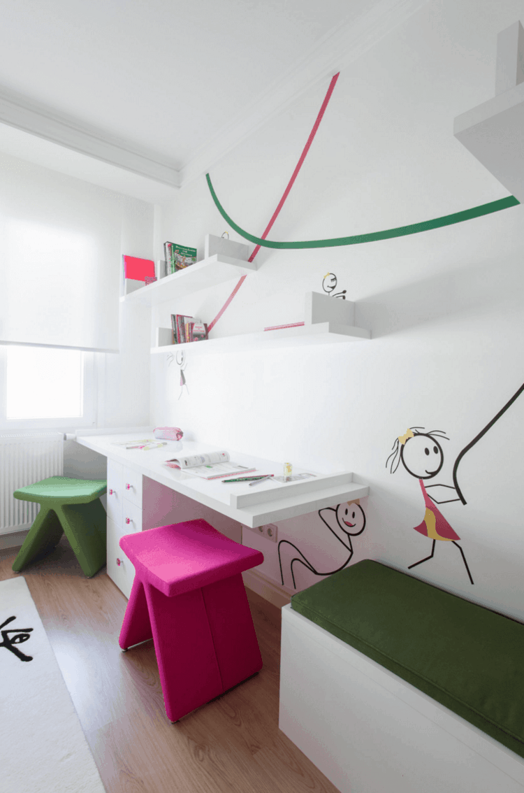 Cuarto infantil dise o moderno habitaciones compartidas - Habitaciones disenos modernos ...