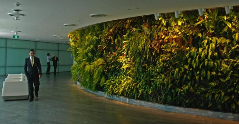 diseño muro interior jardin