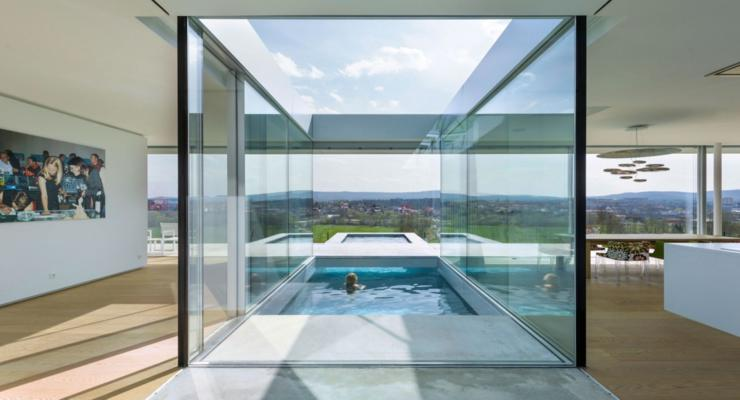 diseño pario piscina interior