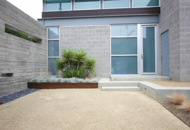 diseño paisaje jardín moderno entrada