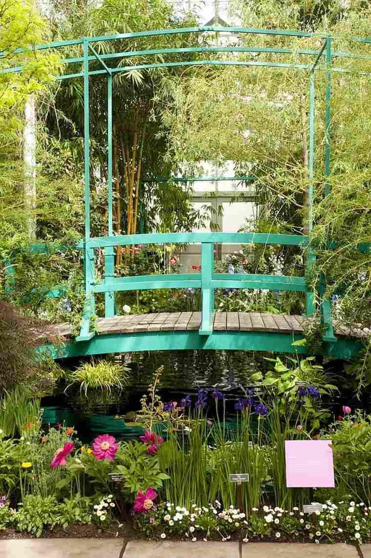 diseño puentes color aguamarina exterior