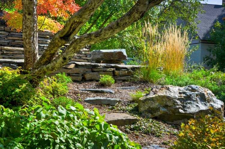 diseño terrazas gradas escaleras piedra