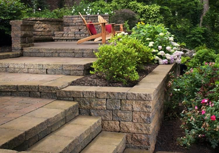 diseño terraza jardin piedras