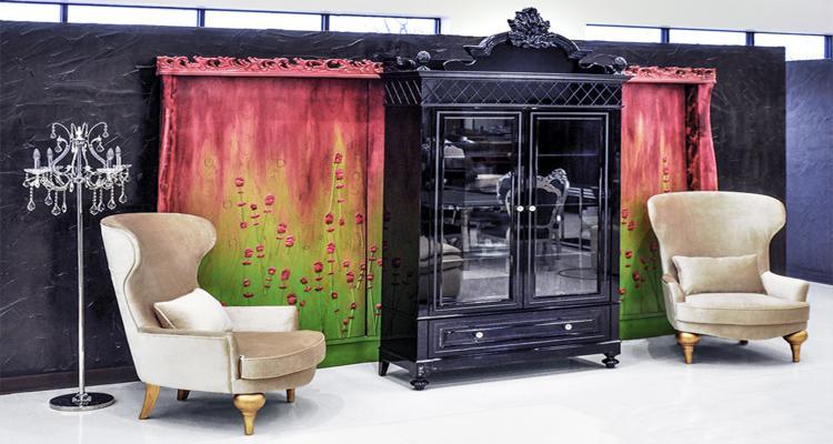 diseño aparador moderno vintage negro