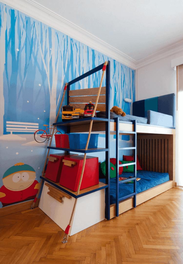 diseños modernos habitaciones infantiles litera