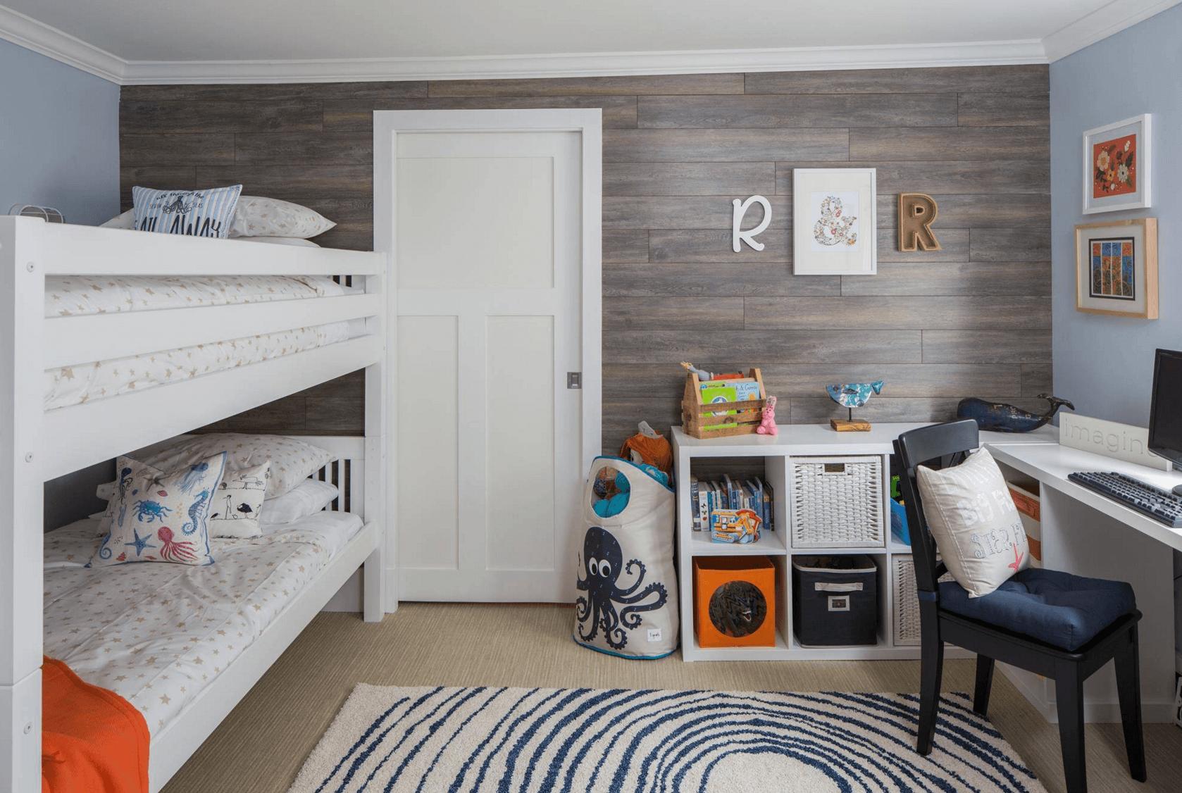 Cuarto infantil diseño moderno - habitaciones compartidas