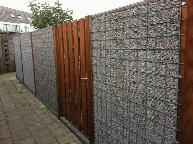 diseños modernos jardines muros piedra