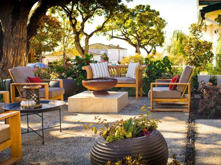 diseños modernos terrazas patios muebles