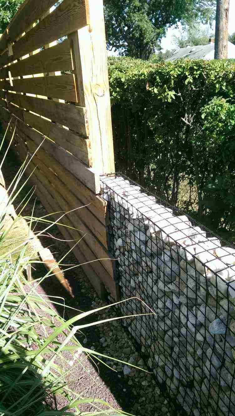 diseños muros jardines modernos vallas