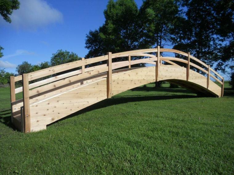 diseños puentes grantes para jardines