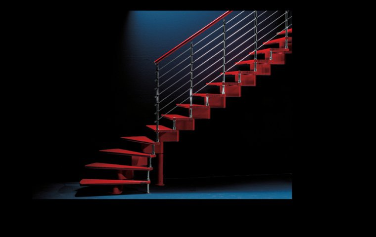 diseno contemporaneo escaleras rojas ideas