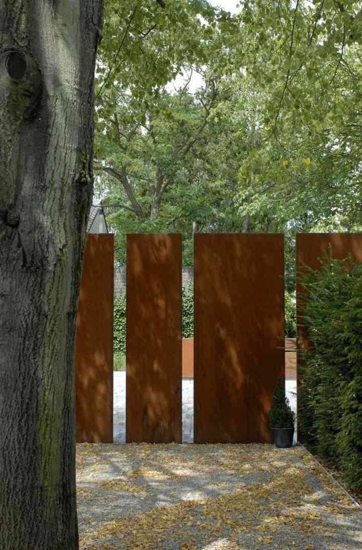 divisiones paredes muros color esteras modernas