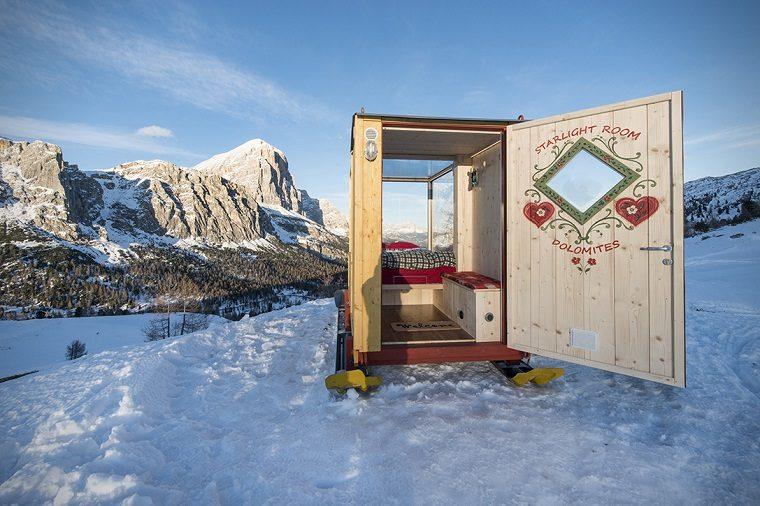 dormir montana cabina madera pequena ideas