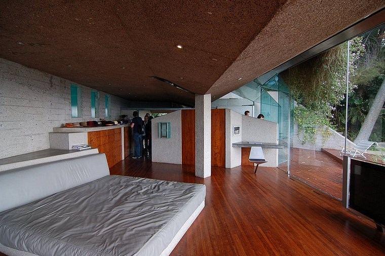 dormitorio amplio luminoso diseno suelo madera ideas