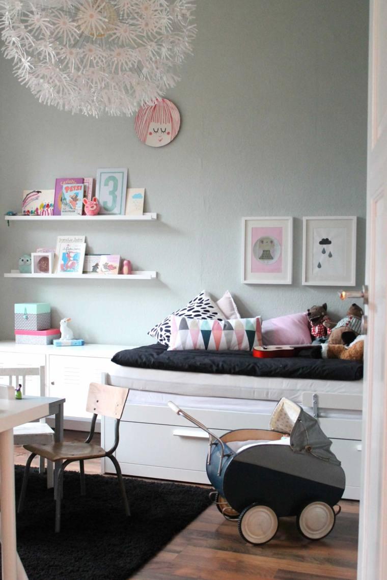 Camas infantiles 50 dormitorios modernos for Muebles infantiles modernos