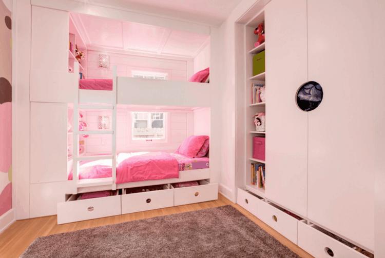 bonito dormitorio infantil color rosa