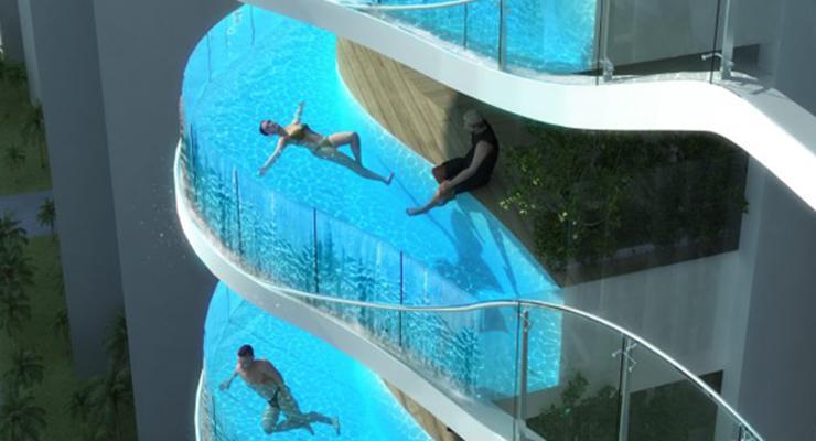 balcones piscinas de diseño moderno