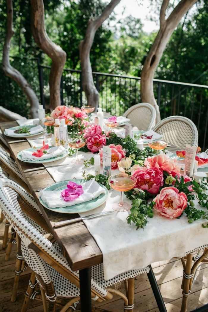 ejemplos mesas decoradas primavera arboles