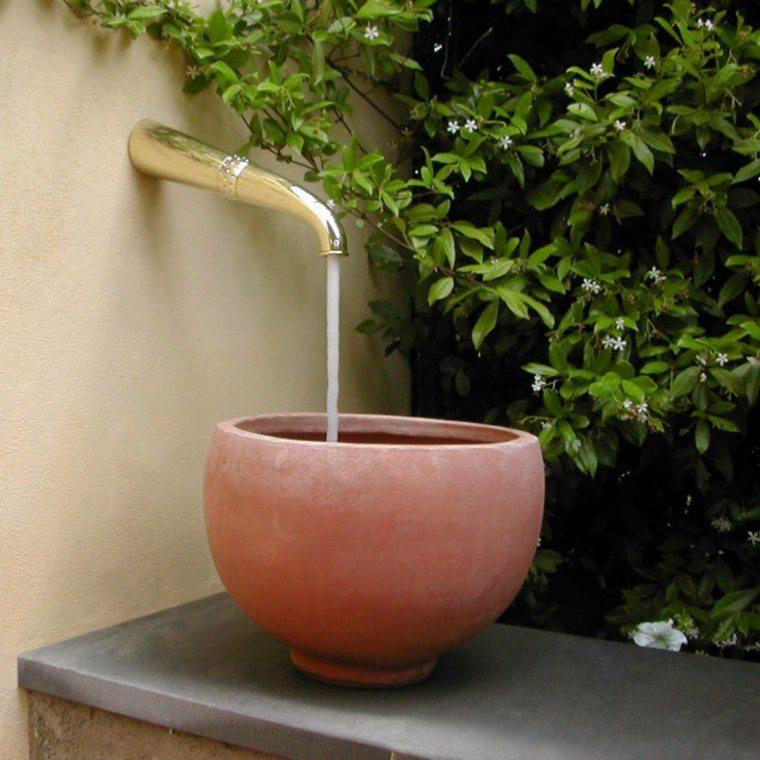el agua jardin moderno lavabo original exteriores ideas