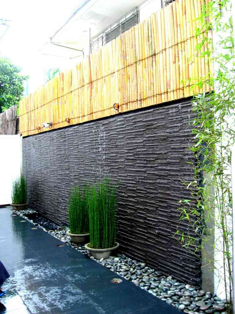 el agua jardin moderno pared diseno espacios exterior ideas