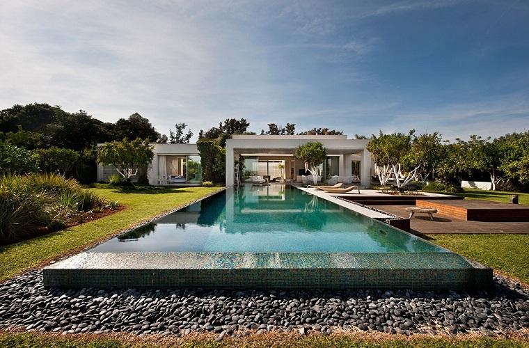 agua jardin moderno piscina baldos ideas