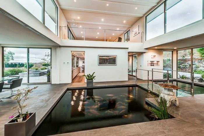 el agua salones casas detalles sisternas barras interiores