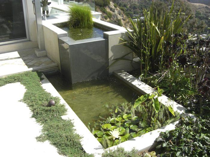 el agua salones casas detalles sisternas principios grises
