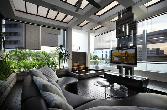 water living rooms houses gray details
