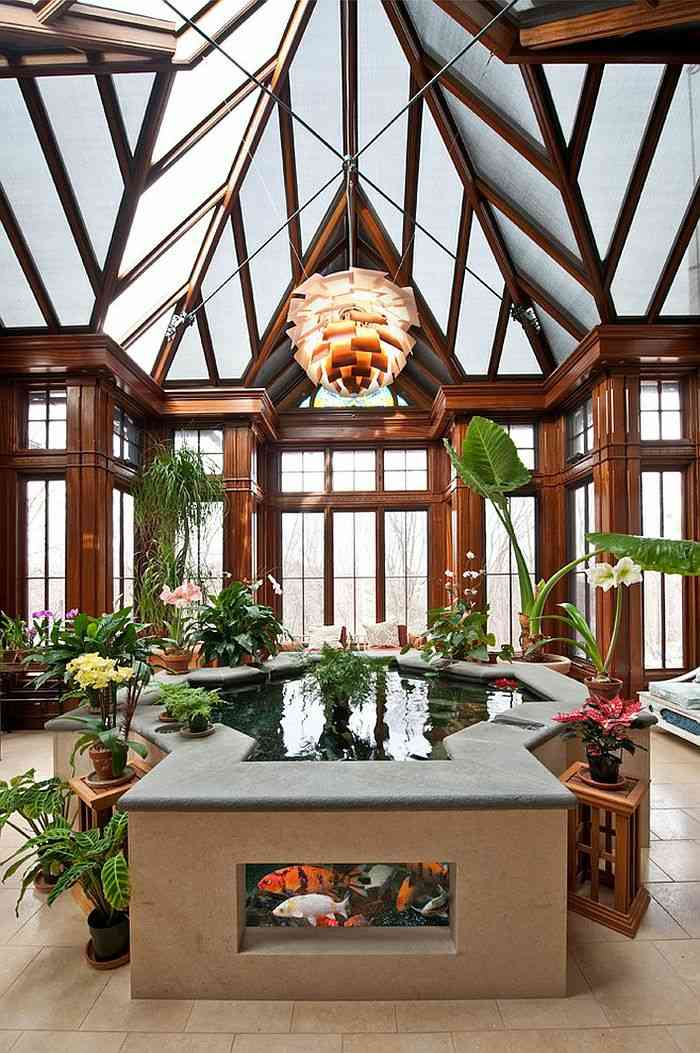 el agua salones cuentas sentidos muebles plantas