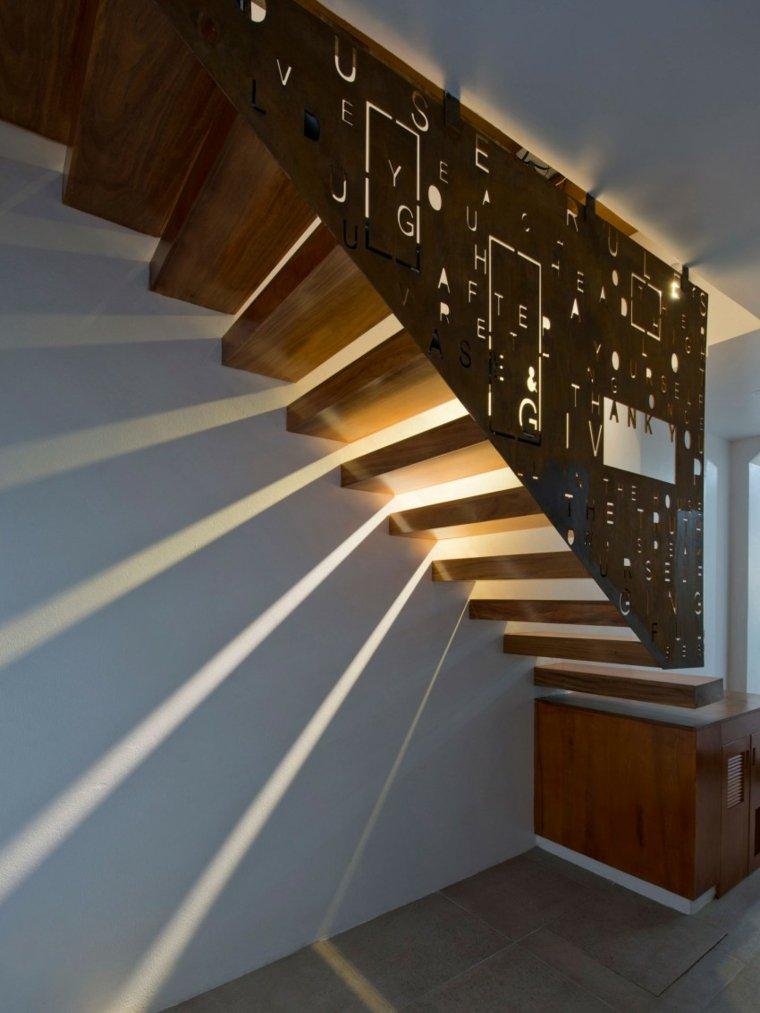 el apartamento iluminacion escalones madera ideas