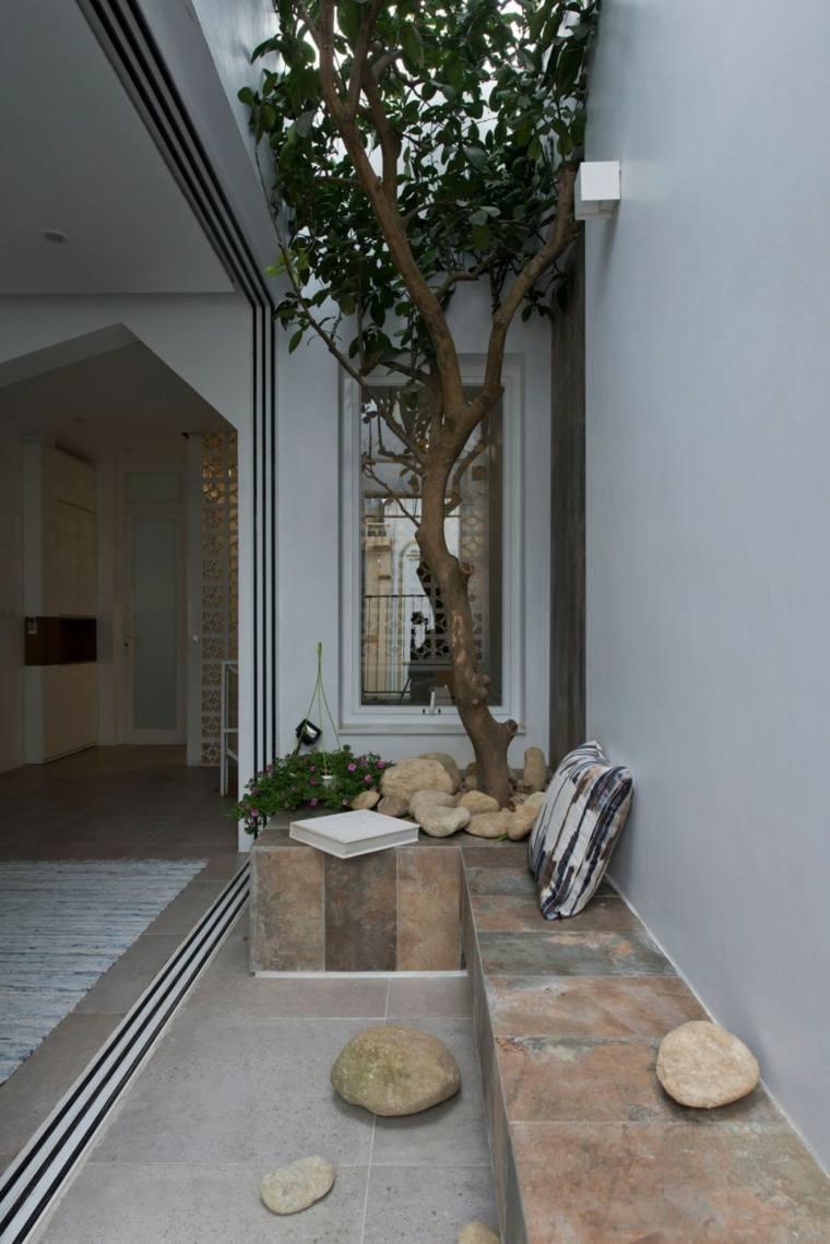 el apartamento jardin pequeno terraza arbol ideas
