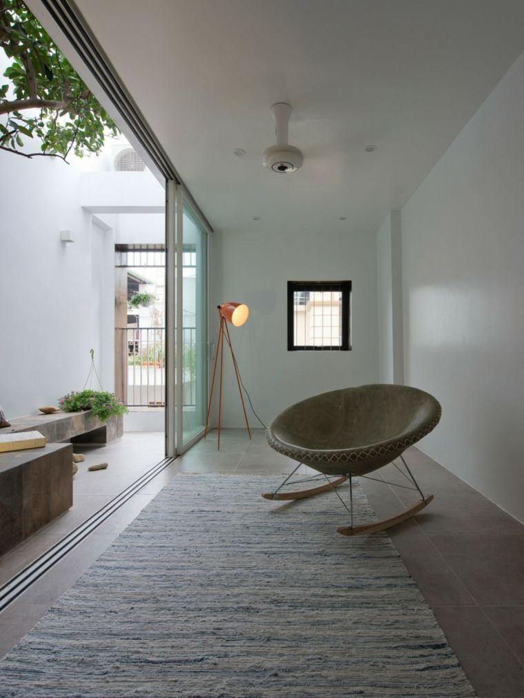 el apartamento salon estrecho jardin pequeno ideas