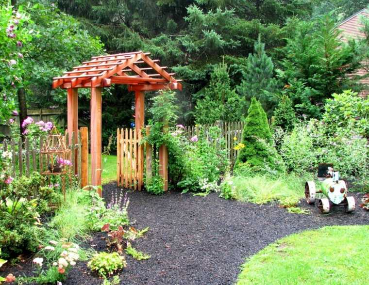 entrada casa diseno original madera arco ideas