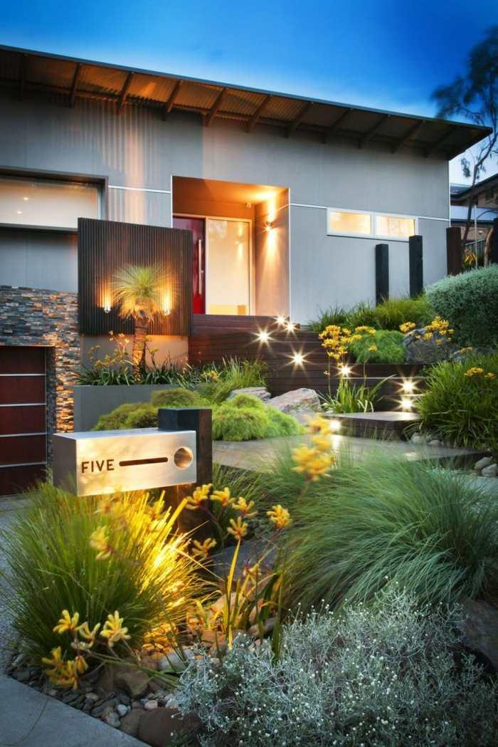 entradas hogares muebles salas exteriores ideas
