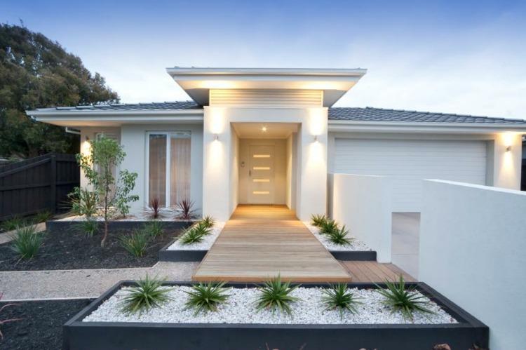 entradas jardines casas diseo modernas