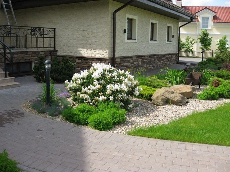 entradas jardines grava sitios color condiciones