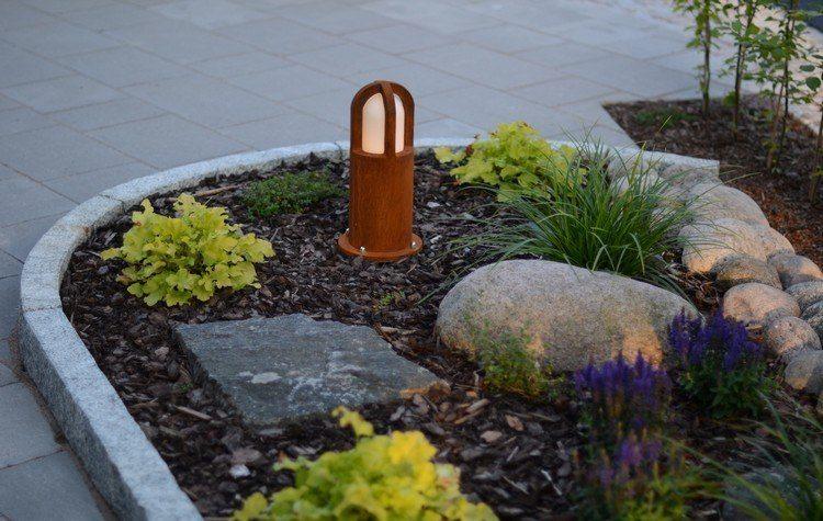 entradas jardines pares color situaciones acero